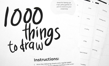 1000 things to draw fun and creative drawing prompts for artists